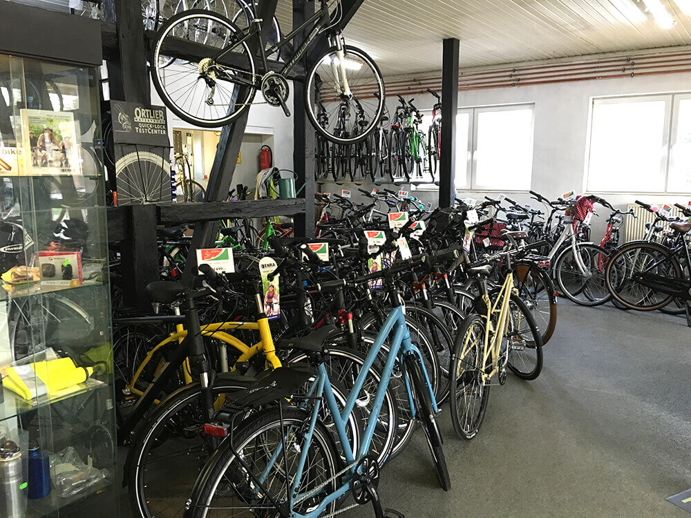 Fahrrad-Shop von Innen